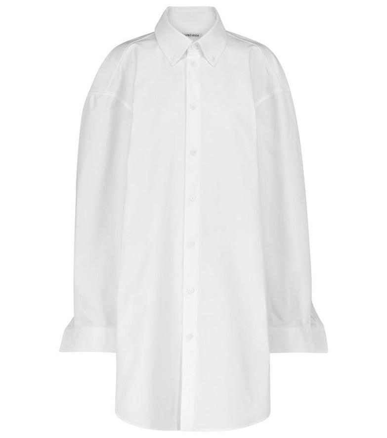 Balenciaga Cotton poplin shirt dress in white