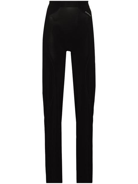 Marine Serre waistband print fitted track trousers - Black