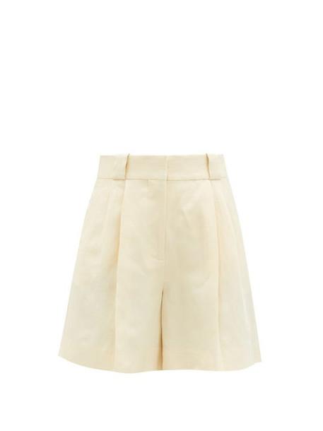 Blazé Milano - Savannah High-rise Linen-blend Shorts - Womens - White