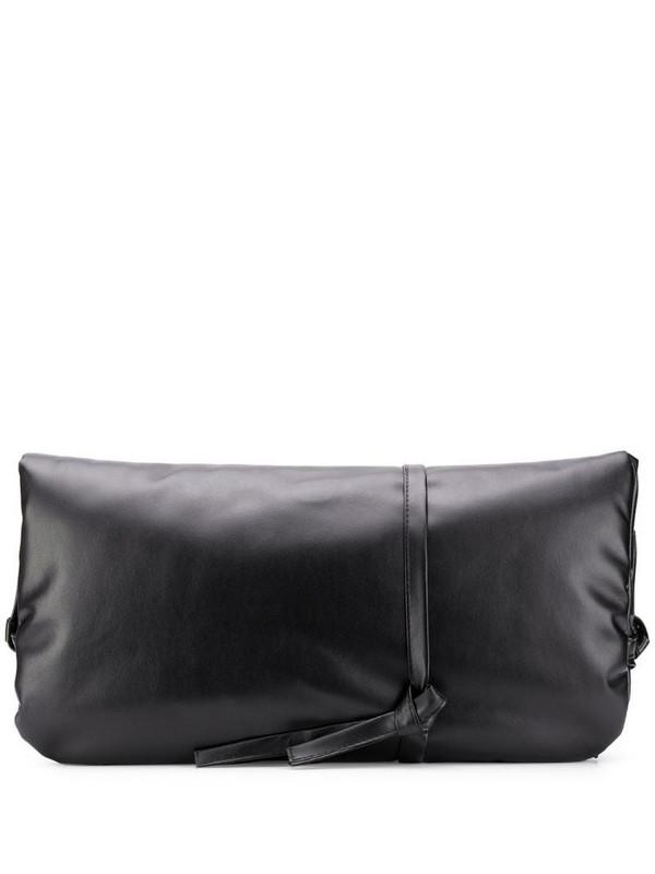 A.W.A.K.E. Mode leather folded clutch bag in black