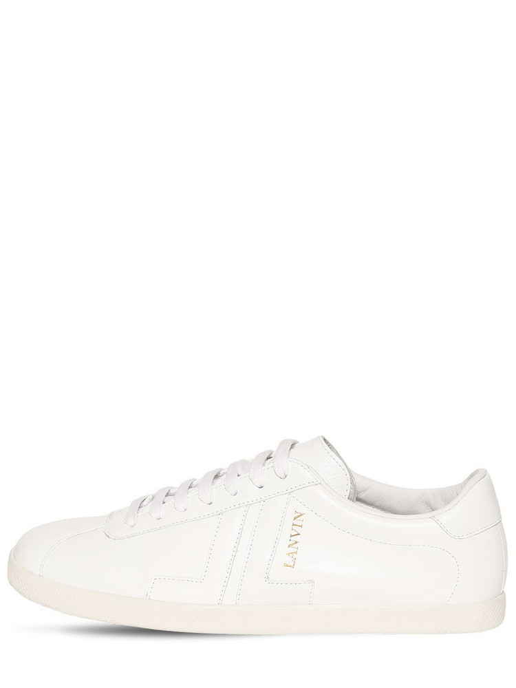 LANVIN 10mm Leather Sneakers in white