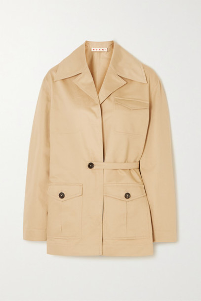 Marni - Cotton And Linen-blend Twill Jacket - Beige