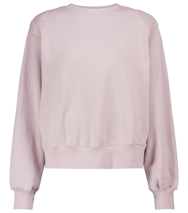 Frankie Shop Exclusive to Mytheresa – Vanessa cotton jersey sweatshirt in purple