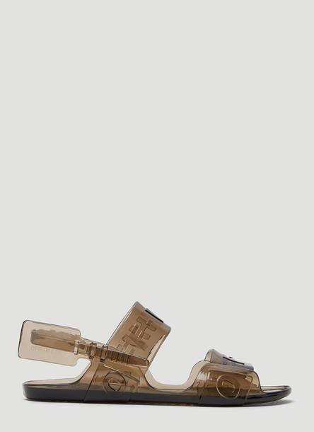 Off-White Zip Tie Jelly Sandals in Grey size EU - 37