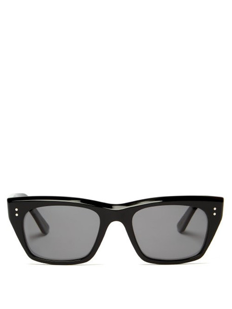 Celine Eyewear - D Frame Angular Acetate Sunglasses - Womens - Black