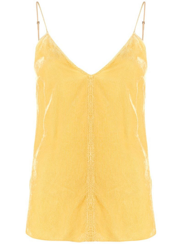 Forte Forte ribbed camisole top in yellow