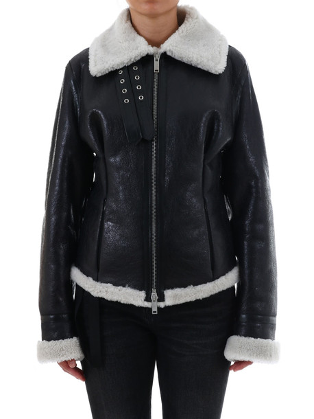 Ben Taverniti Unravel Project Shearling Jacket in black