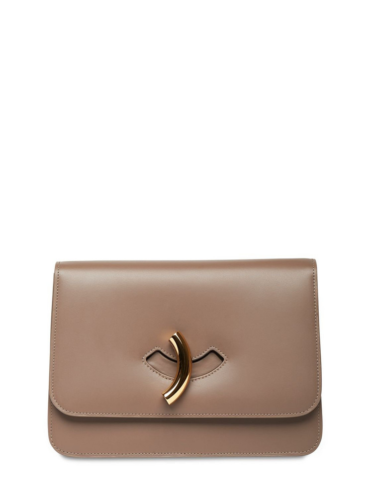 LITTLE LIFFNER Macheroni Leather Shoulder Bag in taupe