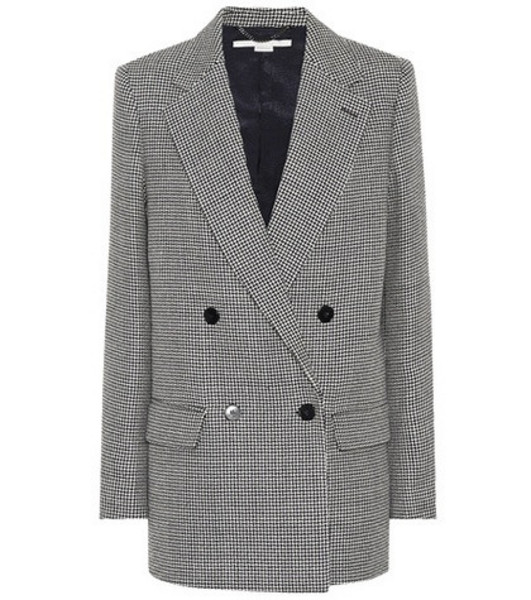 Stella McCartney Houndstooth wool blazer in grey