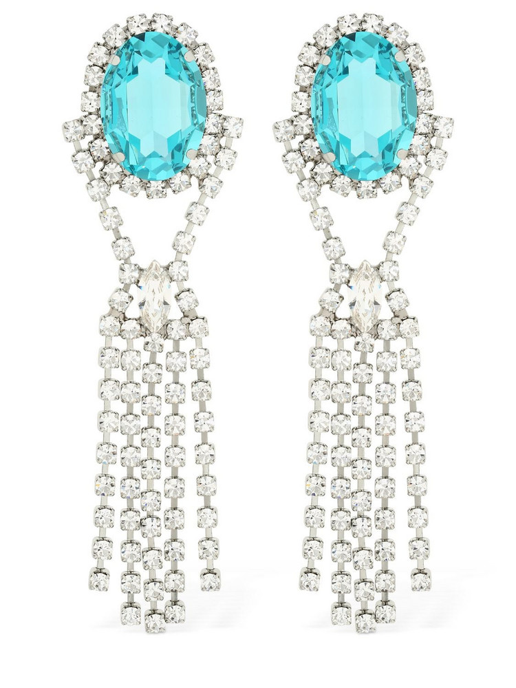 16ARLINGTON Crystal Drop Earrings in transparent
