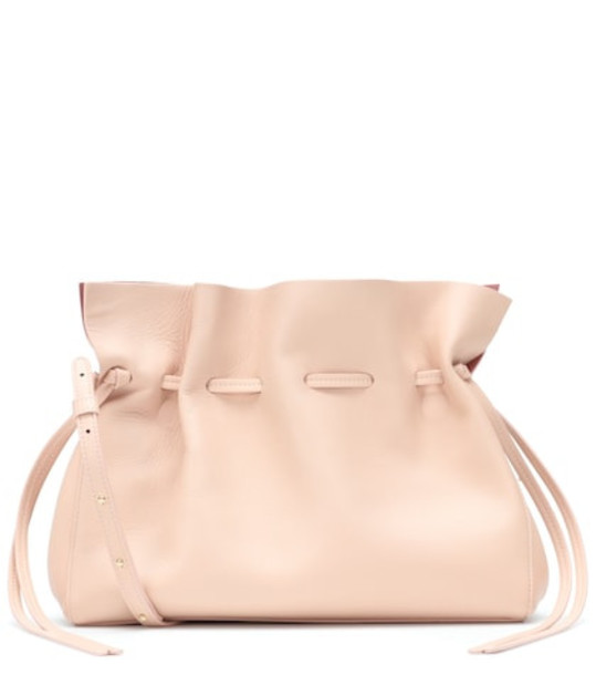 Mansur Gavriel Protea leather shoulder bag in pink