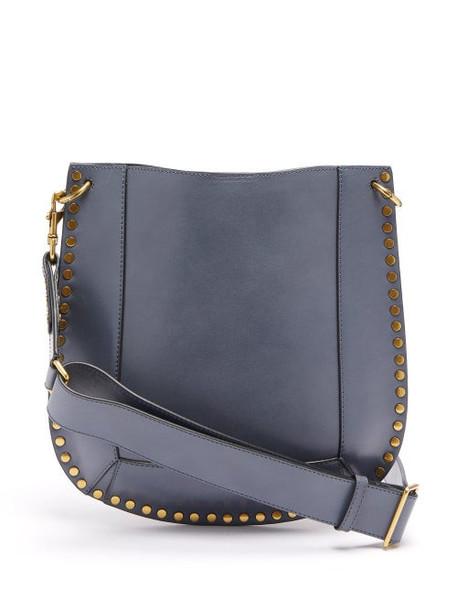 Isabel Marant - Oskan Studded Leather Shoulder Bag - Womens - Grey