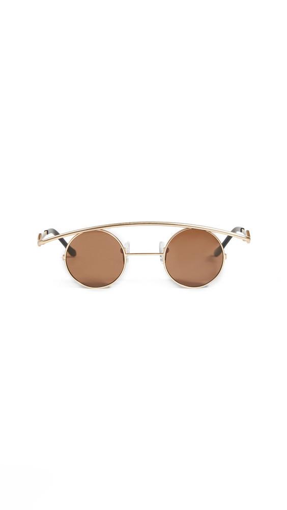 Karen Wazen Retro's Sunglasses in brown