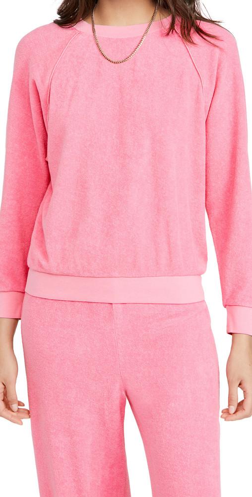 Kondi Terry Raglan Top in pink