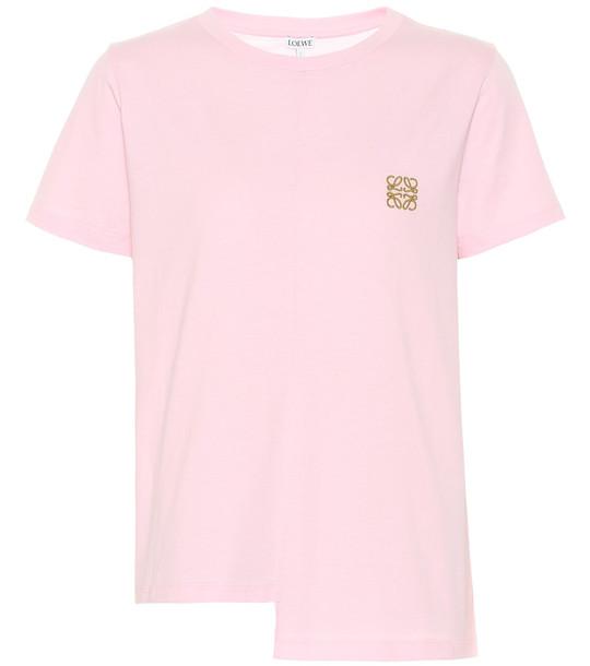 Loewe Asymmetric Anagram cotton T-shirt in pink