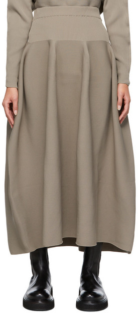 CFCL Taupe Pottery Skirt in beige