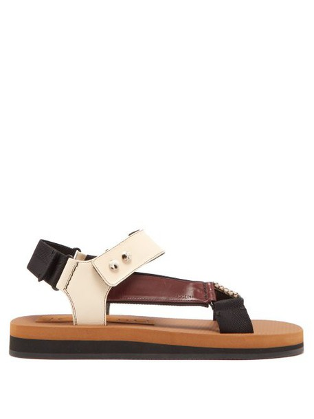 Joseph - Tri Colour Python Effect Sandals - Womens - Burgundy White