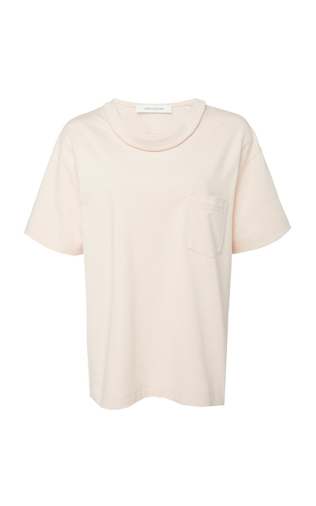 Cédric Charlier Cotton Crewneck T-Shirt in neutral