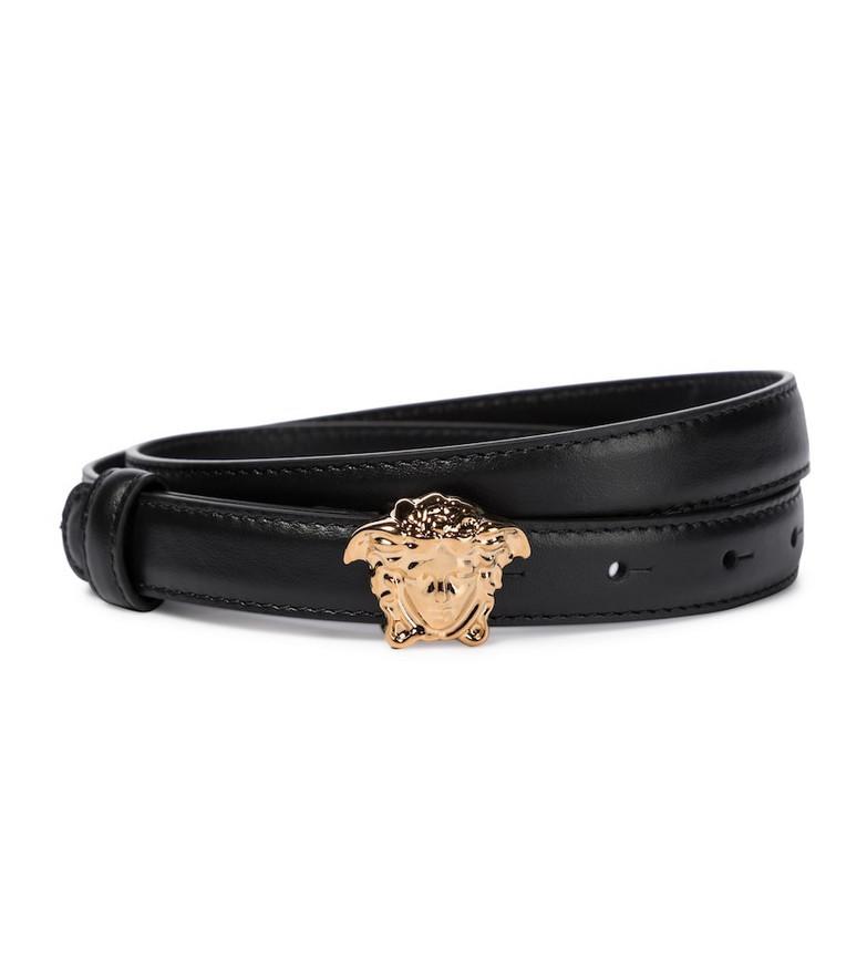 Versace Medusa leather belt in black