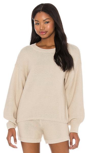 onzie Cozy Knit Sweater in Neutral in sand
