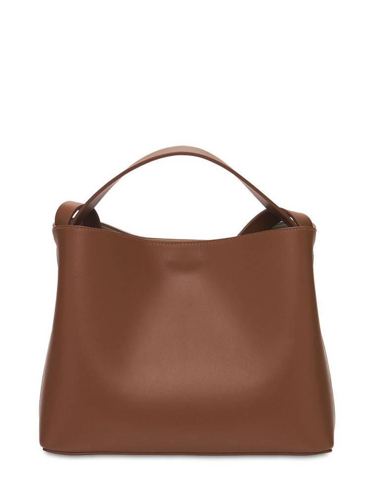 AESTHER EKME Mini Sac Smooth Leather Top Handle Bag in brown
