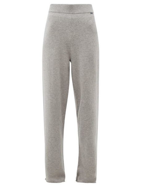 Extreme Cashmere - No.104 Cashmere Wide Leg Track Pants - Womens - Grey