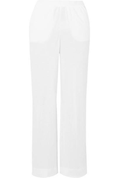 Skin - Adrielle Brushed-cotton Pajama Pants - White