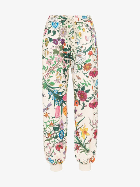 Gucci Jogging pant with Flora print