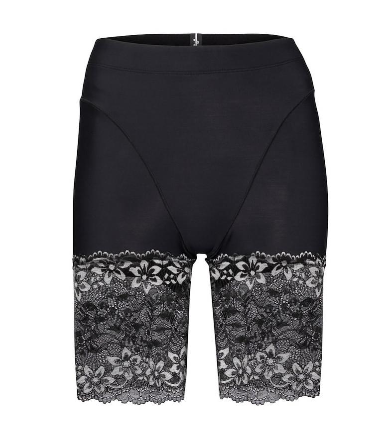 Adam Selman Sport Lace biker shorts in black