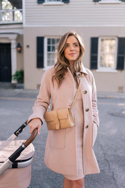 gal meets glam blogger coat sweater dress bag shoes