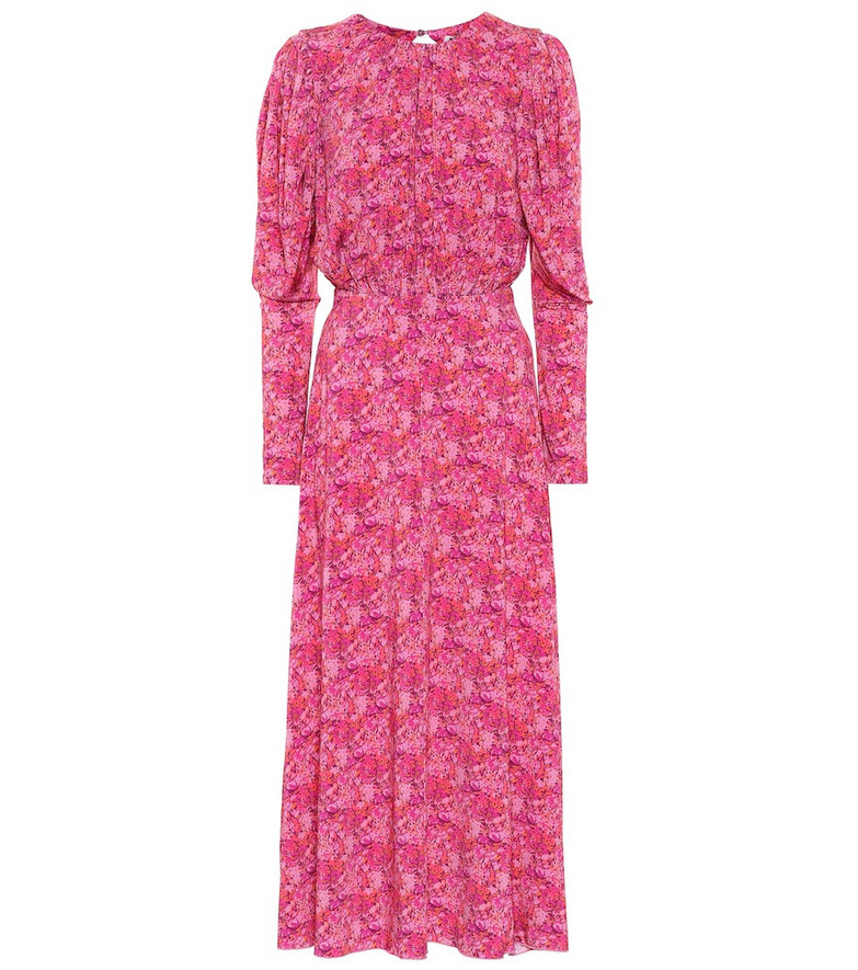 ROTATE BIRGER CHRISTENSEN Floral stretch-jersey midi dress in pink