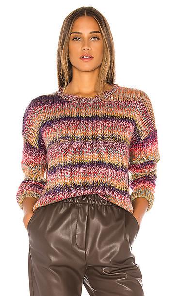 John & Jenn by Line Skylar Chunky Sweater in Pink,Orange,Blue,Purple