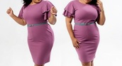 dress,plus size,fashion,belt,belted dress