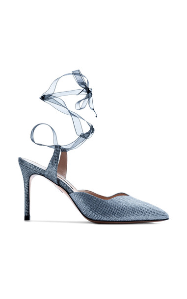 A by Anabelle Ti Amo Sparkle Lace Up Pump in silver