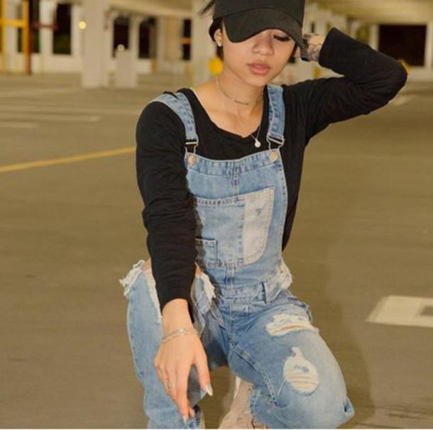 jeans wolftyla denim overalls overalls denim black positive vibes squat photography wolfies Blasian new york city vintage $$$$