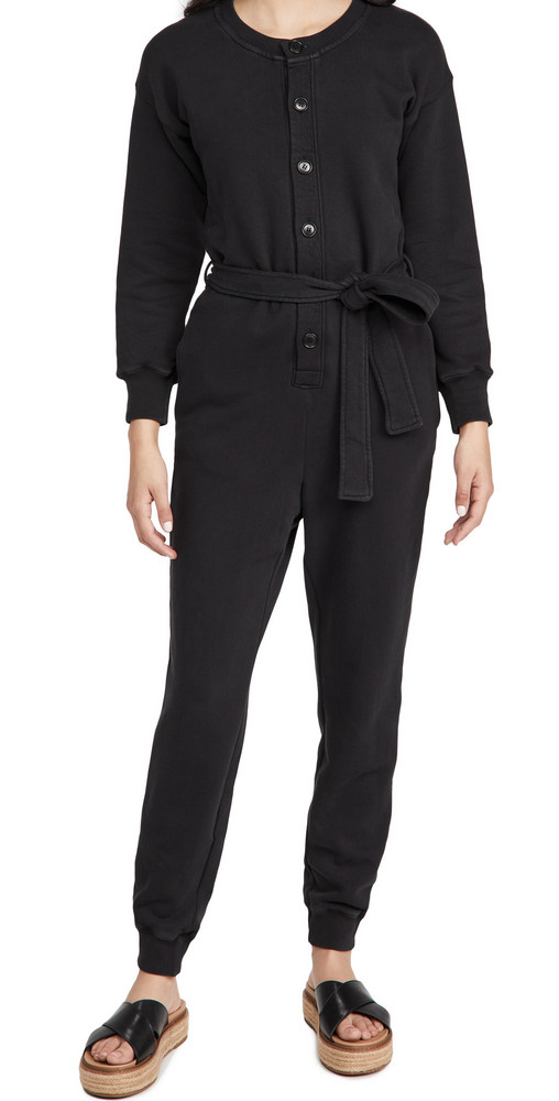 Alex Mill French Terry Jumpsuit in black
