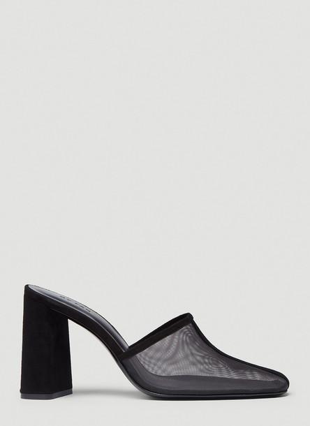 by FAR Nina Mesh Heeled Mules in Black size EU - 41