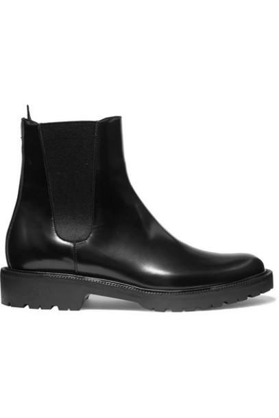 Dries Van Noten - Glossed-leather Chelsea Boots - Black