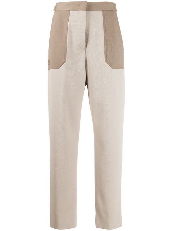 Fendi high-waisted trousers in neutrals