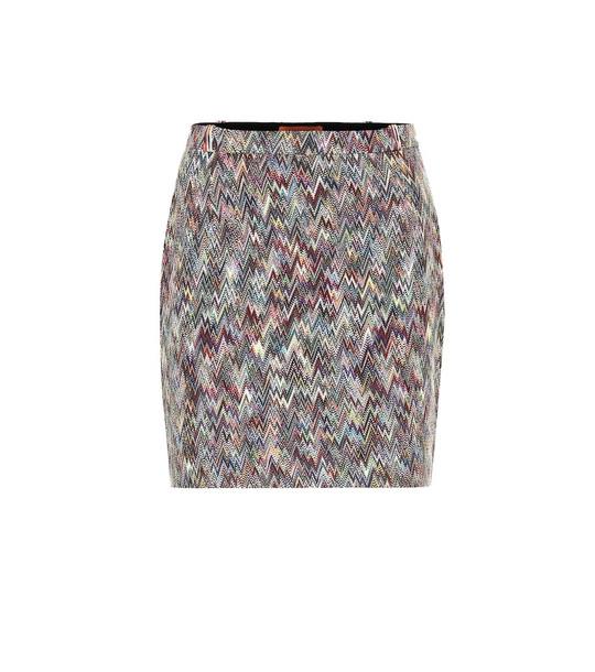 Missoni Knitted wool miniskirt