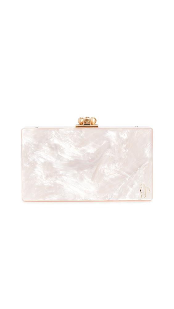 Edie Parker Slim Jean Solid Clutch in rose