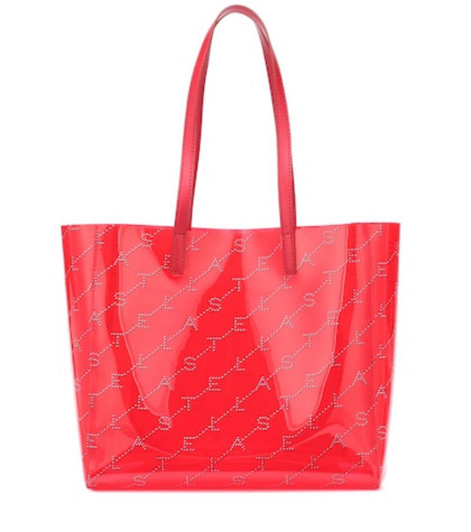 Stella McCartney Monogram Small tote in red