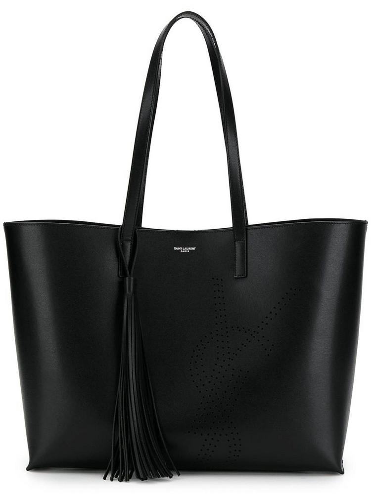 Saint Laurent Ysl Shopping Bag in nero