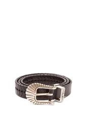braided,belt,leather,black