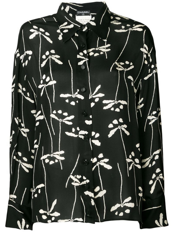 Chanel Pre-Owned 1998 printed shirt in black