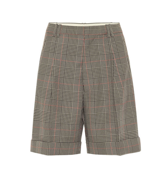 Maison Margiela Checked mid-rise shorts in beige