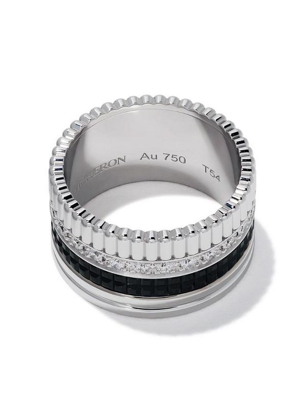 Boucheron 18kt white gold Diamond Quatre Black large ring