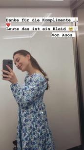 dress,asos,blue,flowers,midi dress
