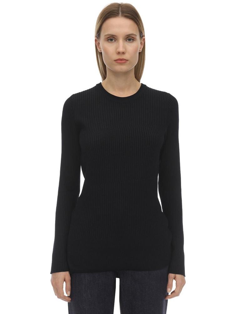 FALKE Authentic Wool Sweater in black