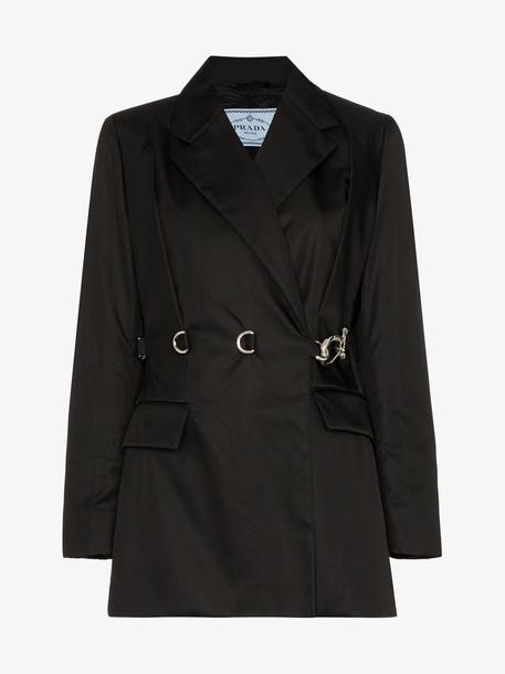Prada Nylon gabardine jacket in black